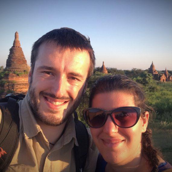 Dernier coucher de soleil sur la plaine de Bagan